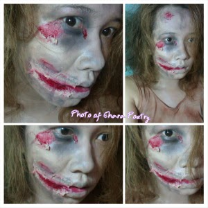 RIPPED MOUTH ZOMBIE MAKEUP HALLOWEEN