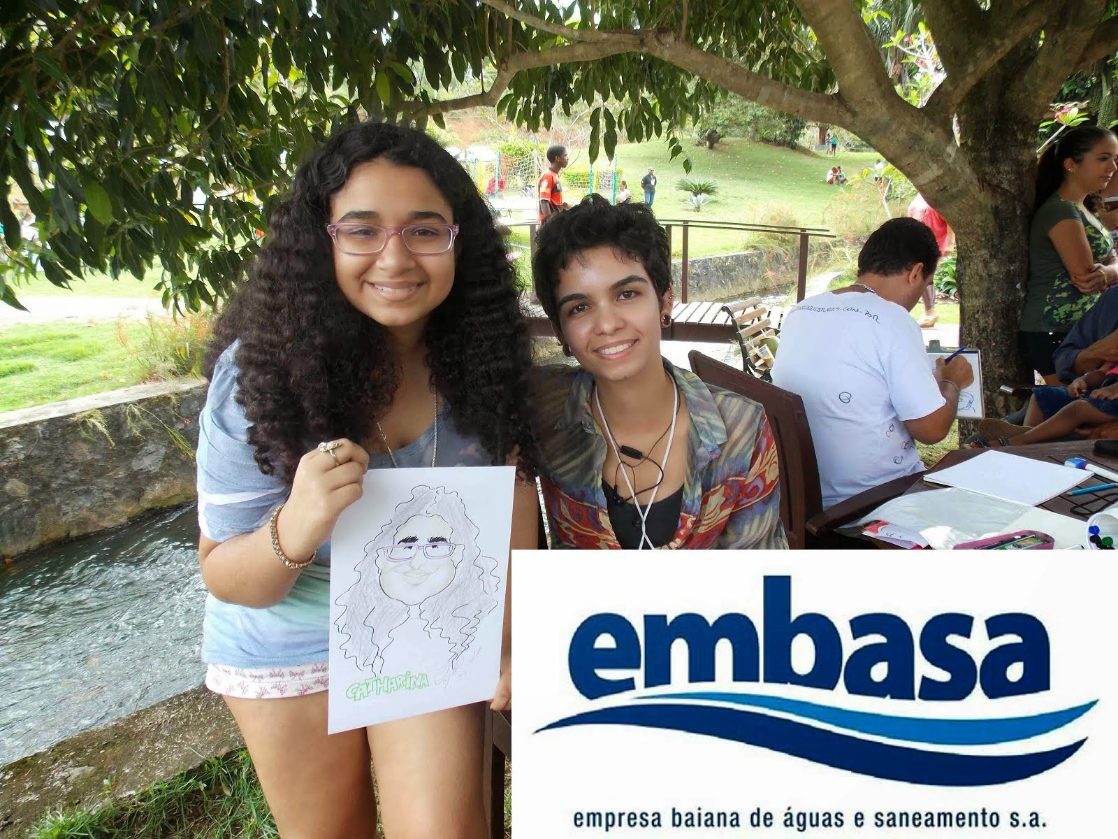 Caricaturas ao vivo_ EMBASA