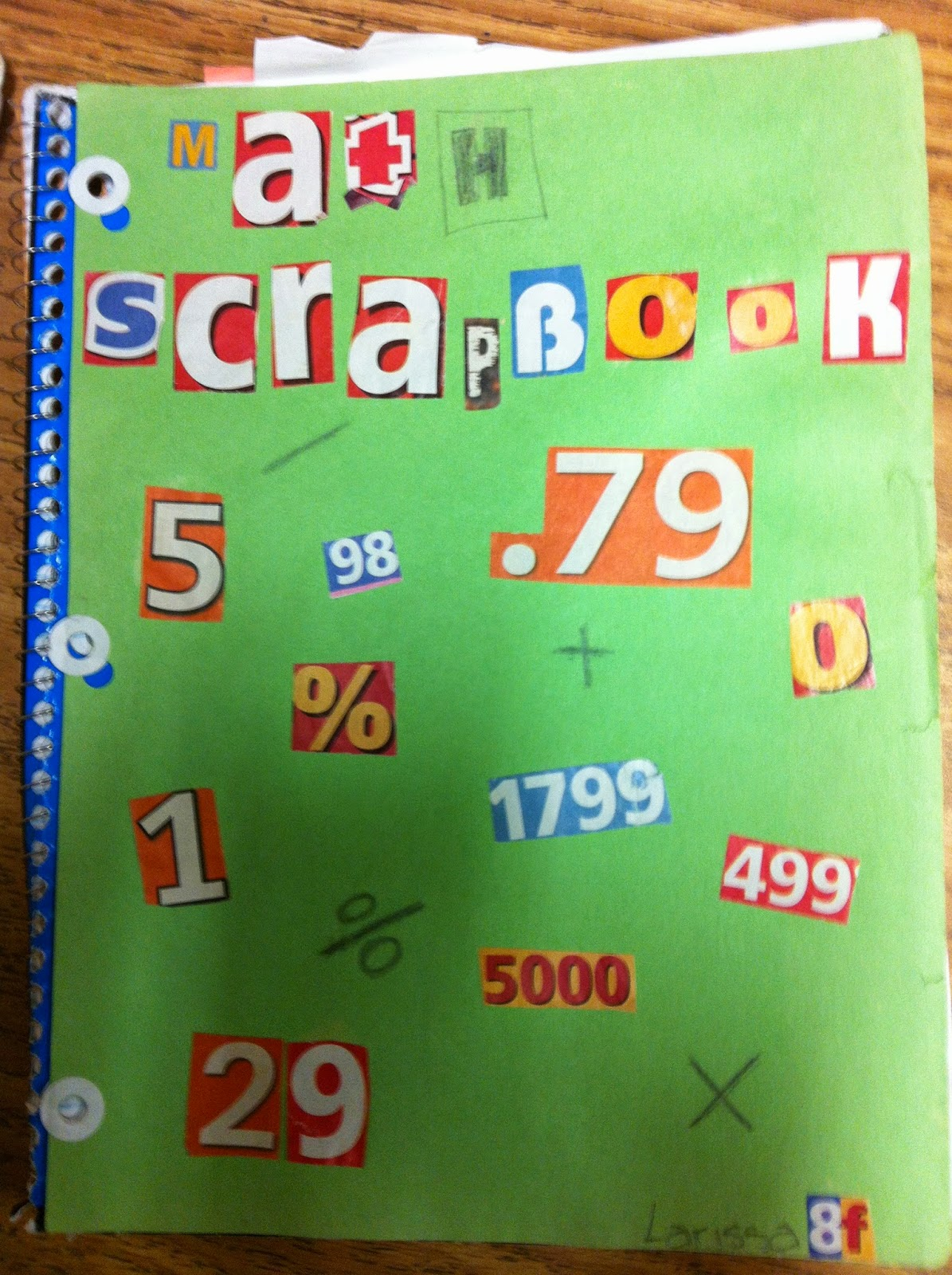 Scrapbook ideas names - The Only Criteria Is That They Have Their Name And Math Scrapbook Somewhere On The Cover Otherwise They Can Decorate As They Like