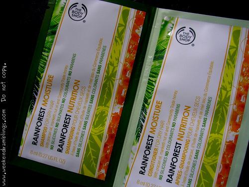 TBS Rainforest Moisture Shampoo conditioner dry hair