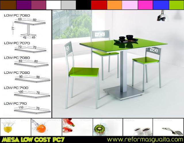 LOW PC7, otra mesa con precio de batalla ~ Reformas Guaita