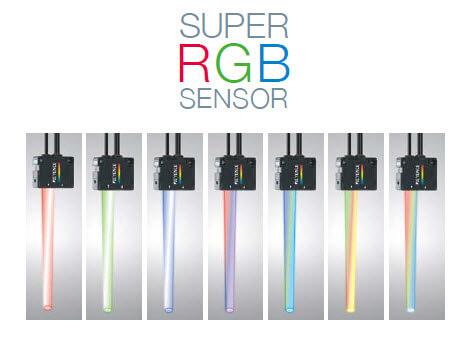 Keyence CZ-V20 Series RGB Digital Fibreoptic Sensors