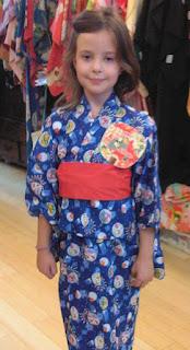 Girl wearing a Yukata from Kimono House NY