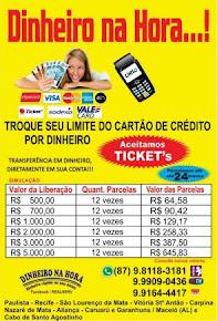 Faça empréstimo com o limite do seu cartão de crédito, e parcele em até 12 vezes.