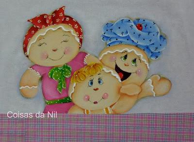 familia de bonecos ginger