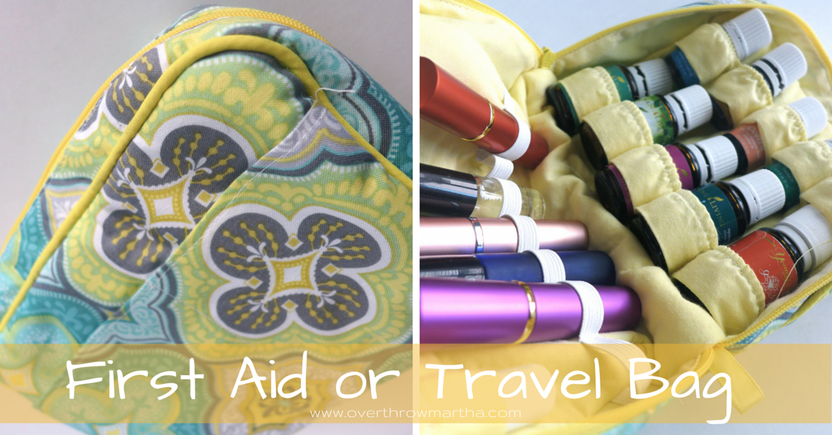 first aid or travel bag for essential oils #yleo