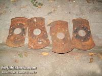 cuatro discos de arado cortados