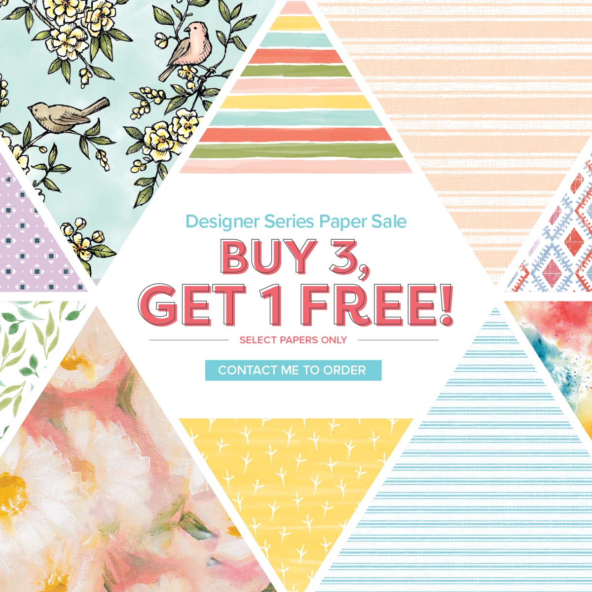Buy 3 get 1 FREE! on Designer Series Paper