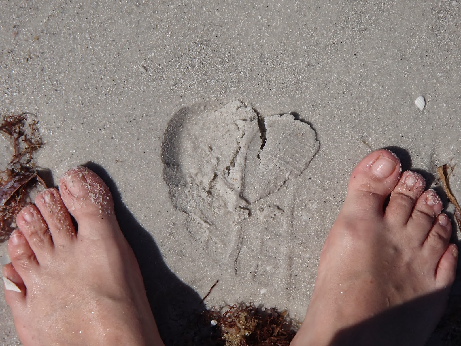 Sand Footprint Heart | Navigating Hectivity by Micki Bare