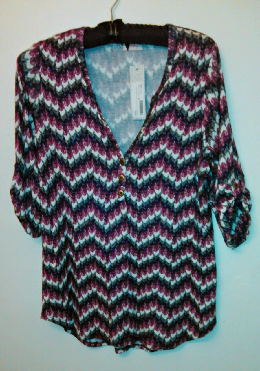 Pixley Edmond Chevron Print Henley from Stitch Fix