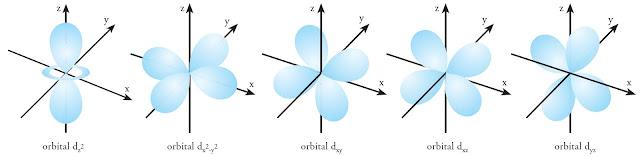 bentuk orbital d