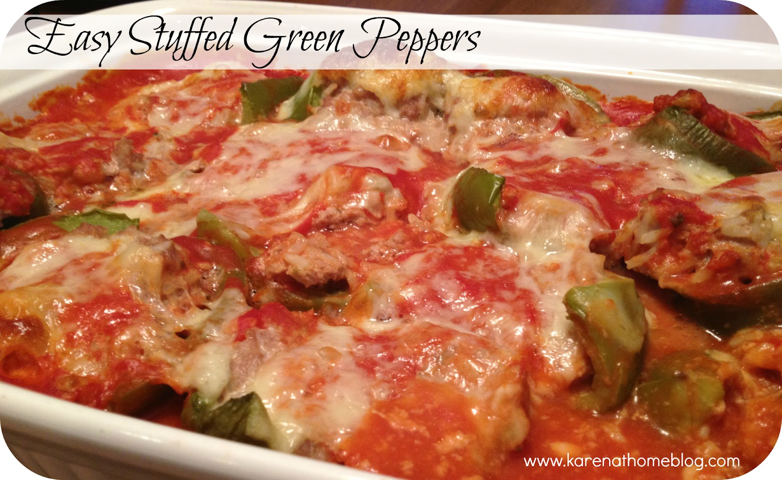 Karen At Home: Easy Stuffed Green Peppers