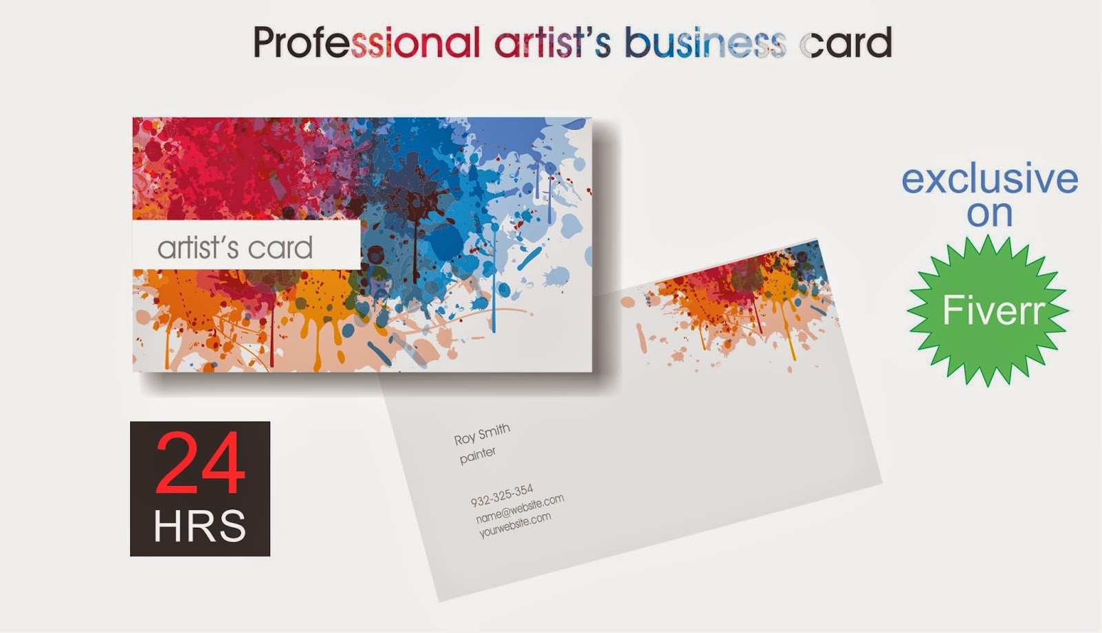 Find Fiverr Best Services: design a PROFFESIONAL business card ...