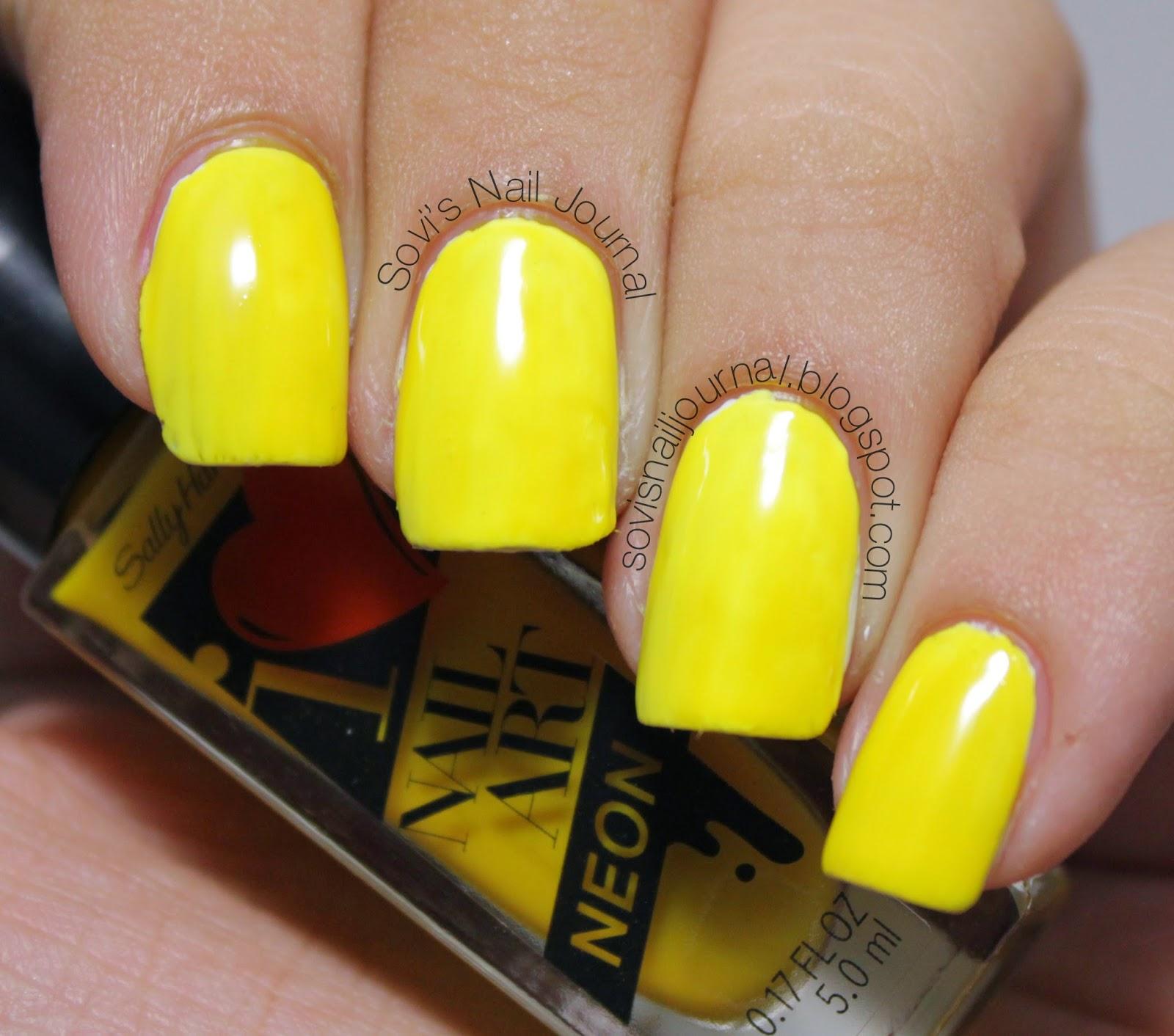 Sovi\'s Nail Journal: Sally Hansen I Heart Nailart Neon 140 Sunny ...
