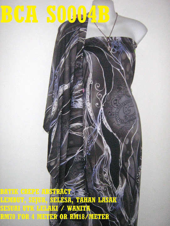 BCA F0004B: BATIK CREPE ABSTRACT,  4 METER