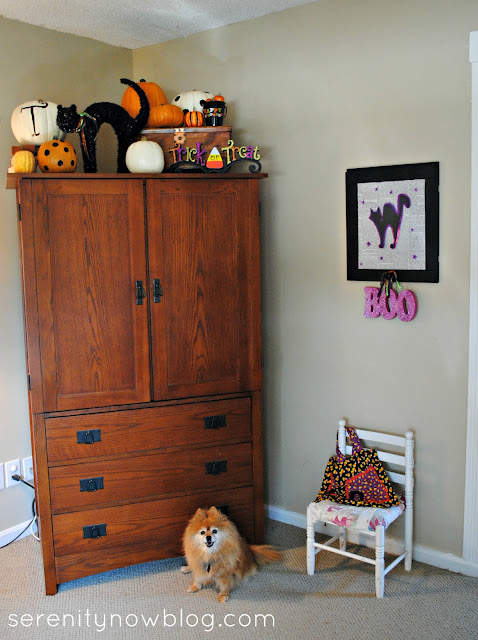 Halloween Decorating (Fake Mantel), Serenity Now blog