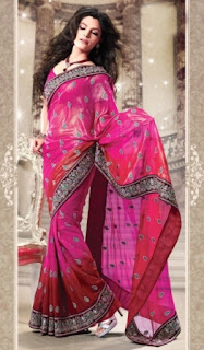Multicolor-Trendy-Indian-Designer-Saree