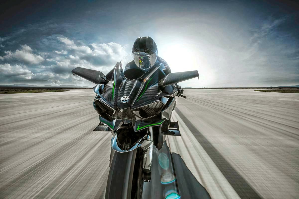 Another 2015 Kawasaki Ninja H2R Front View HD Wallpaper