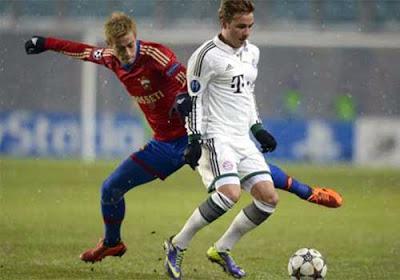 Xem lại đầy đủ trận CSKA Moskva vs Bayern Munich