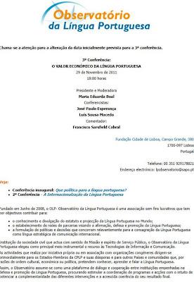 CICLO DE CONFERÊNCIAS DO OLP: 3ª CONFERÊNCIA