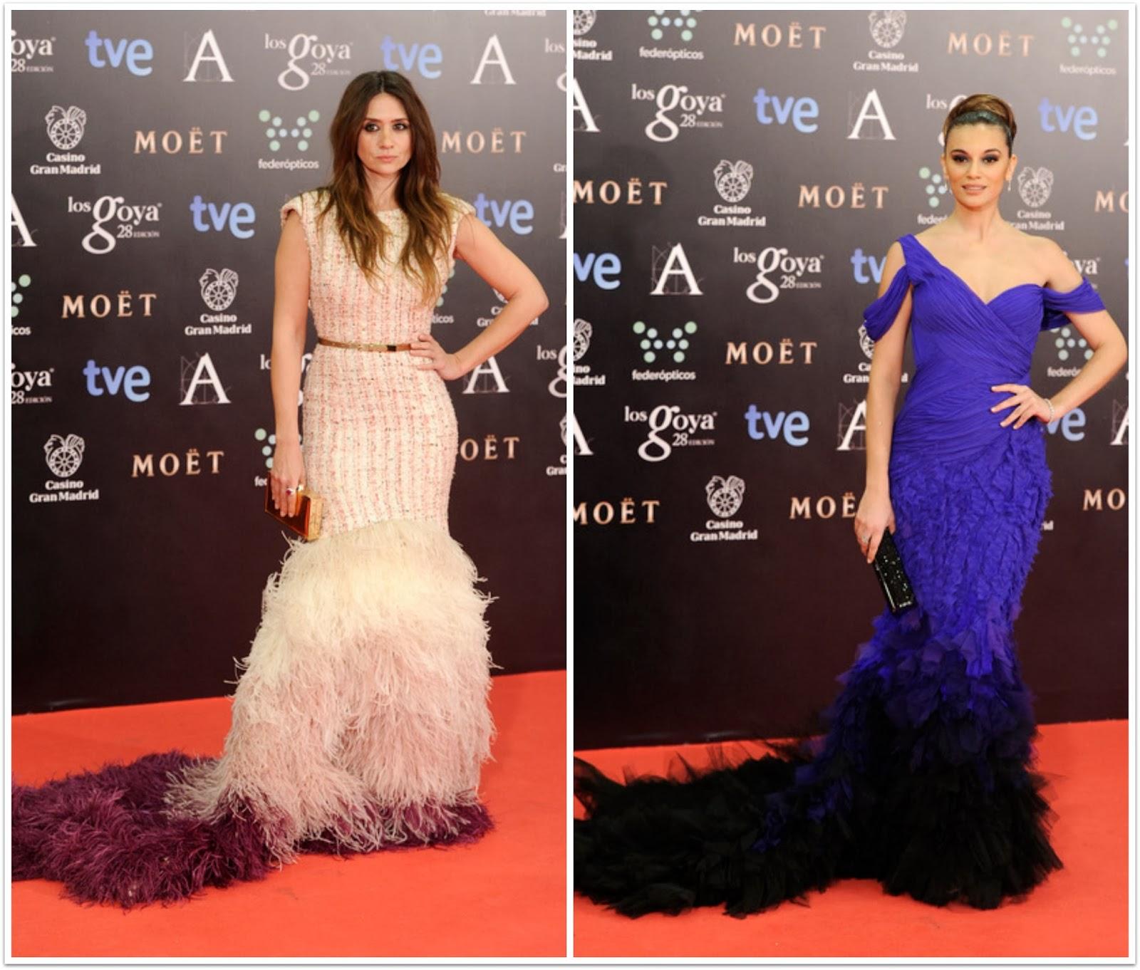 Las peor vestidas Los Goya 2014 - María Botto, Norma Ruiz, plumas de avestruz