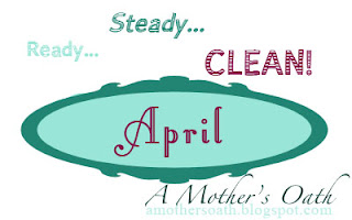 "April's ""Ready... Steady... Clean!"" project at AMothersOath.blogspot.com"