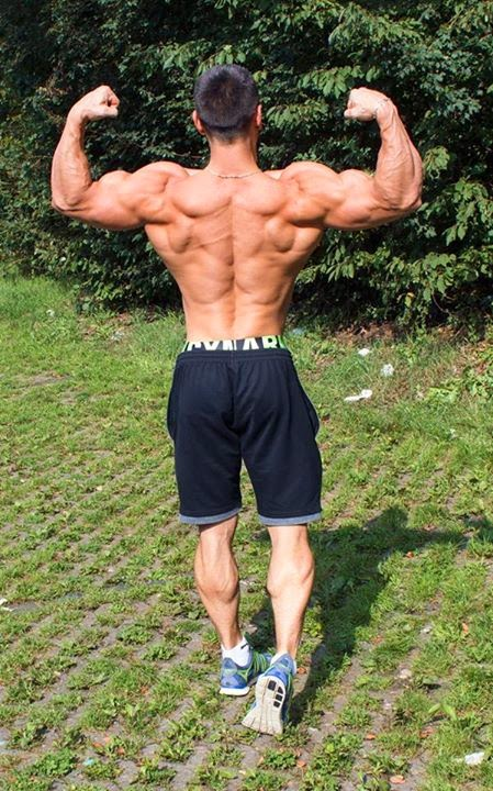 Alon Gabbay fitness model back december 2014