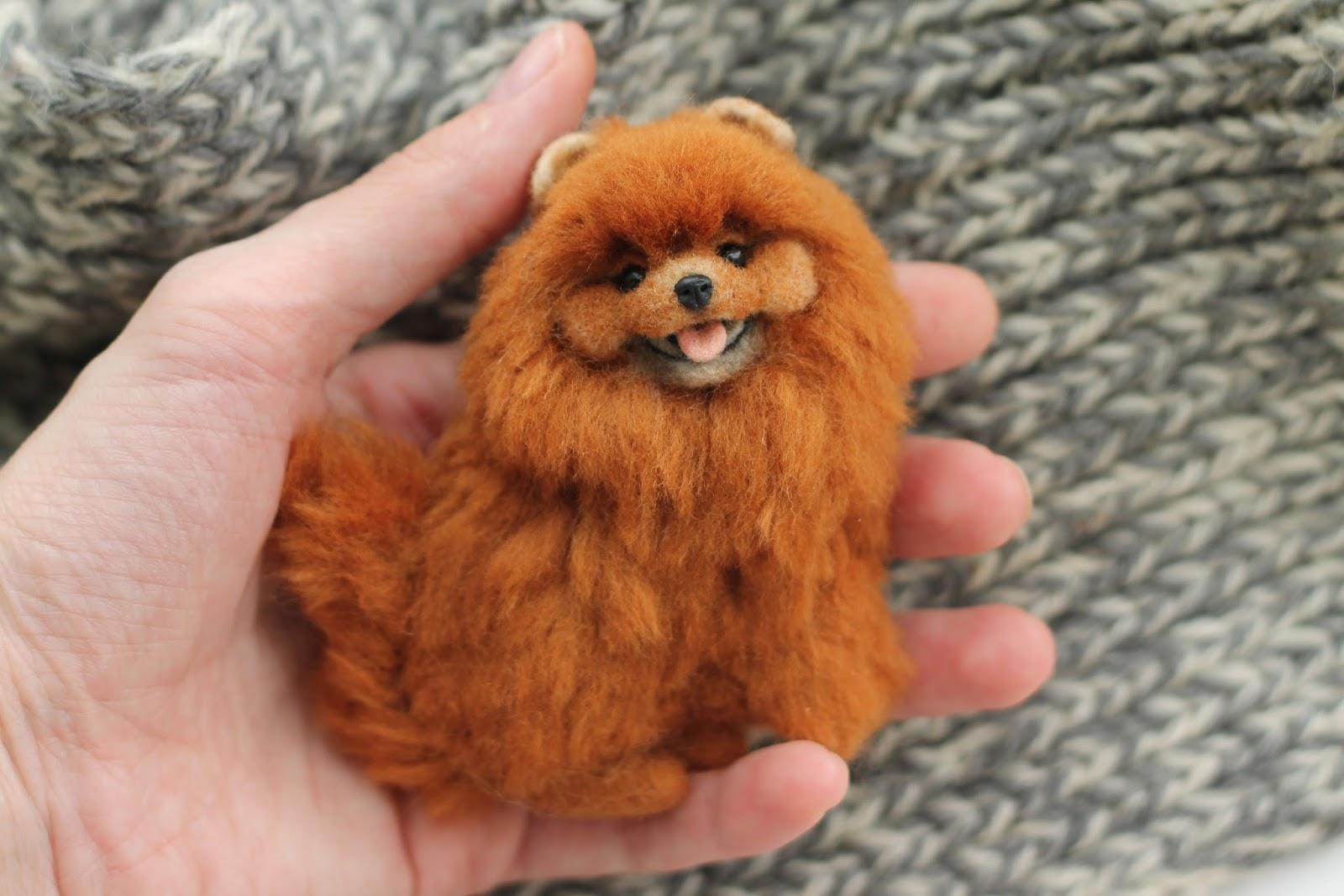 Сувенир из шерсти собака - брошка (фото -мастер -класс) Укрась свой мир!