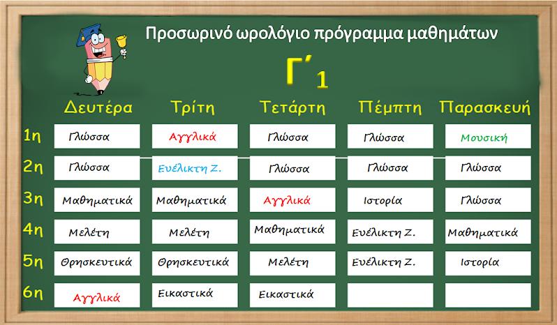 ΠΡΟΓΡΑΜΜΑ Γ΄1