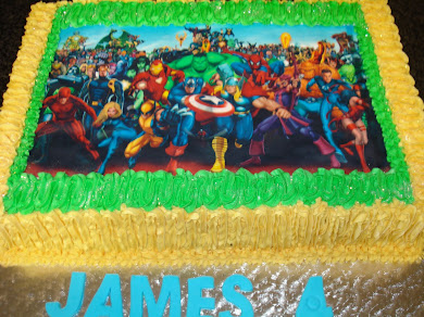 Superhero Cake