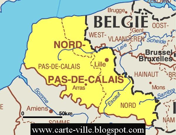 Nord Pas De Calais R Gional Carte De La Ville Carte