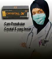 Cara aman gunakan crystal x