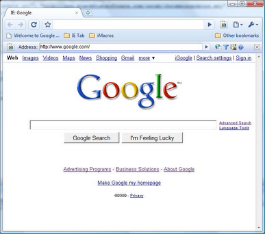 IE tab Google Chrome Extension