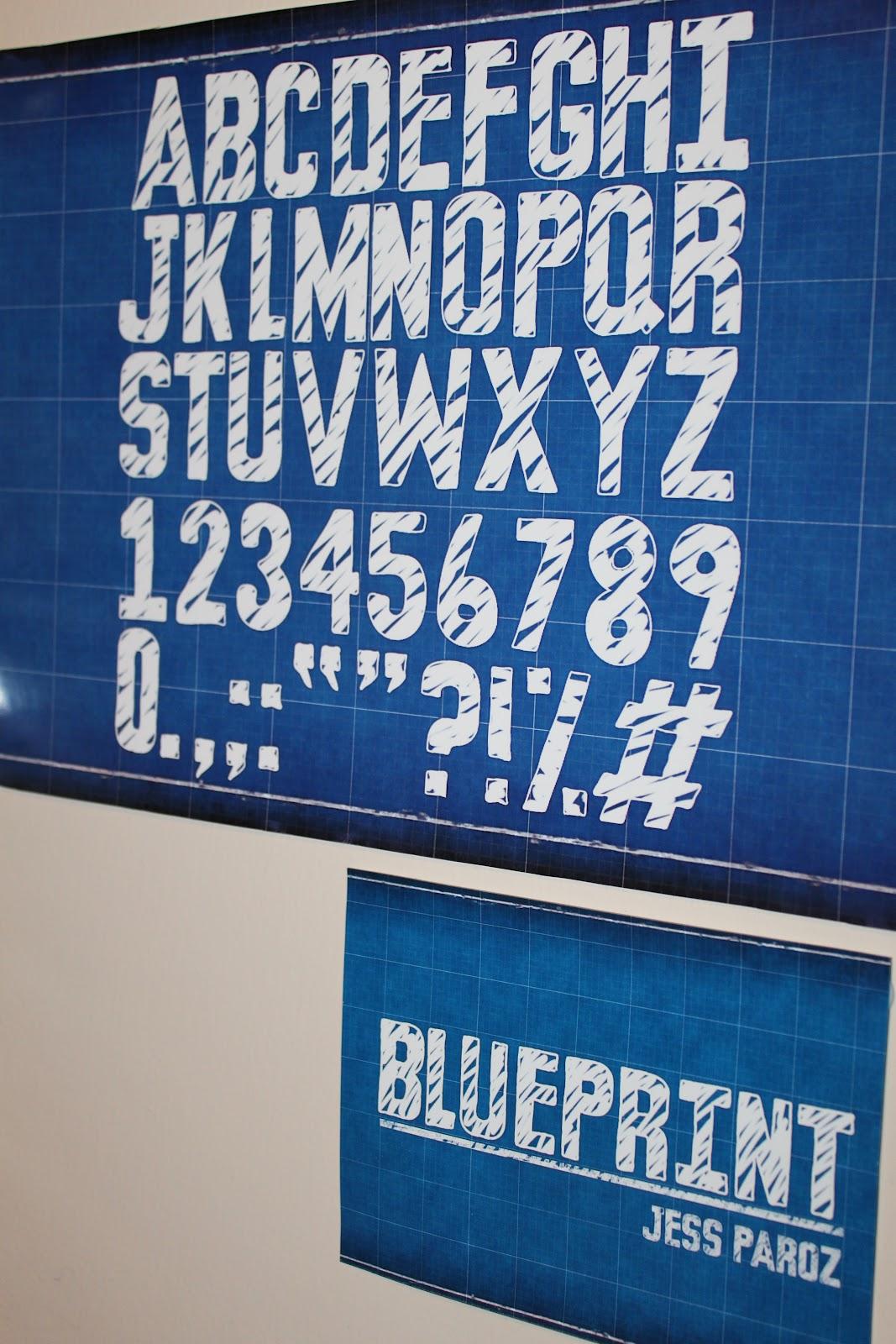 Blueprint font design jess paroz blueprint font design malvernweather Choice Image