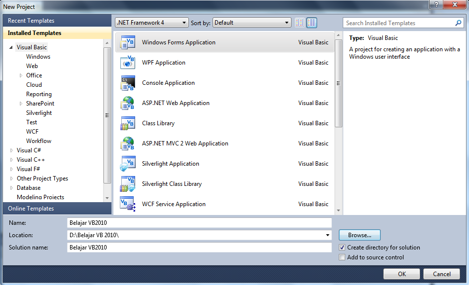 how to connect access database in vb net 2010