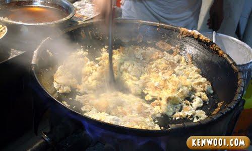 fried oyster stirred