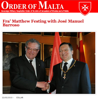 Globalists Durão Barroso and Fra Von Rompuy European Presidents Knigts Templar Sovereign Military Order of Malta Members