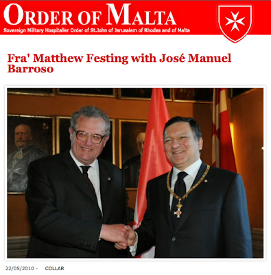 European Presidents Fra Von Rompuy and Durão Barroso Order of Leopold and Order of Malta