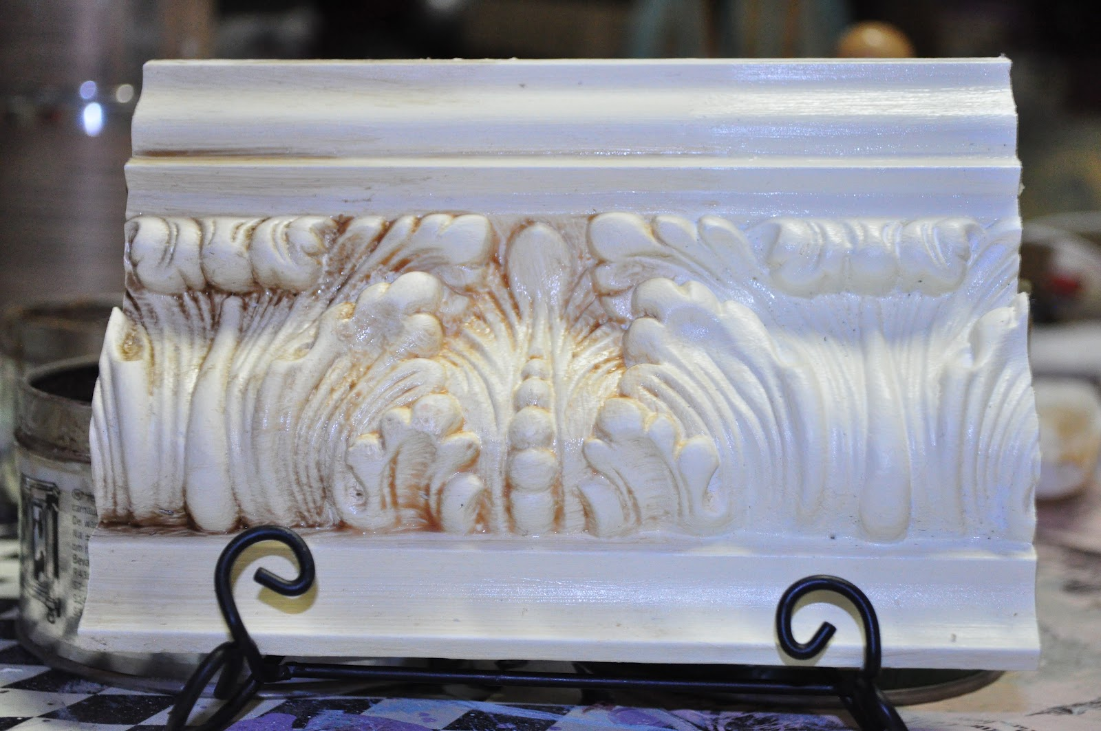 This is Vanille with dark wax directly applied  light brown wax    clear. Waxing Your Furniture   Vintage Charm Restored