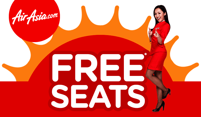 Air Asia bagi Free Seat Jom Book Today