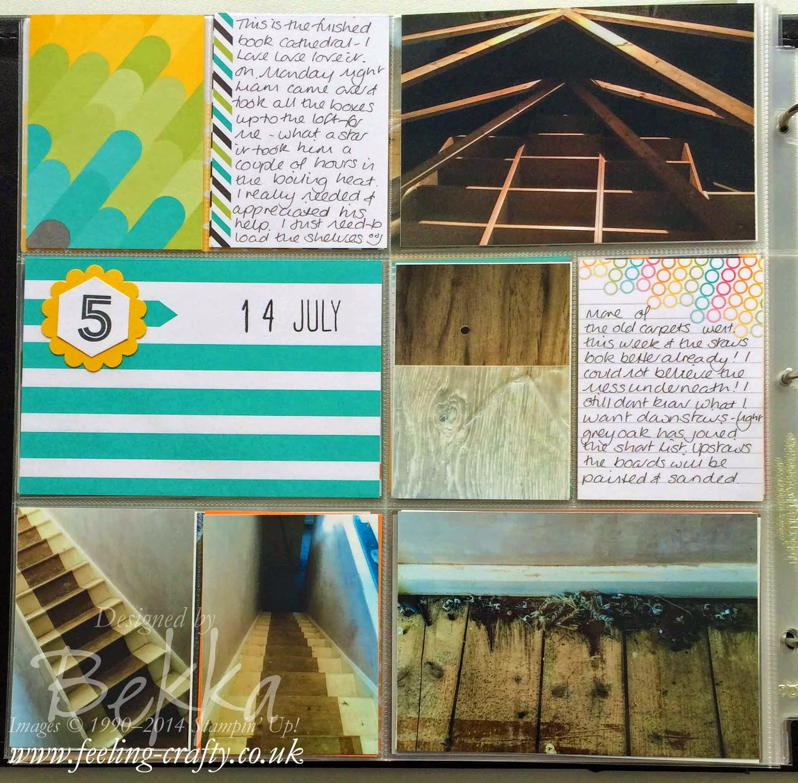 Project Life by Stampin' Up! Pages showing my House Renovations