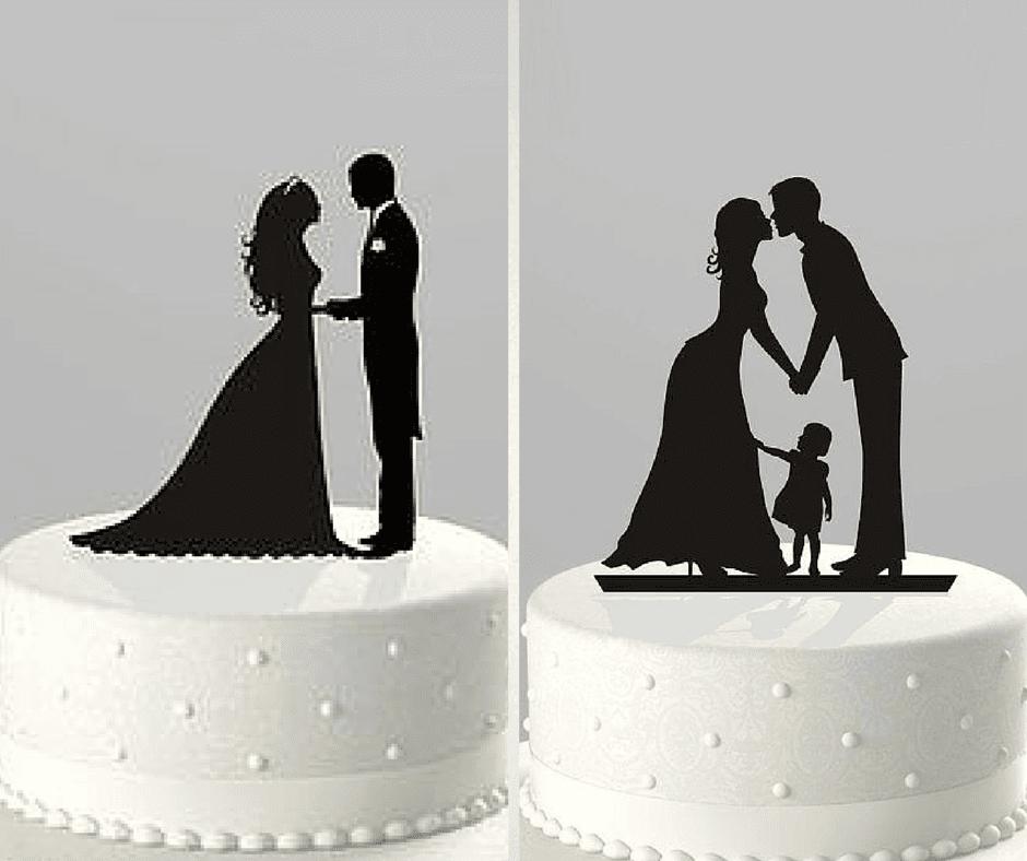 красиви силуети топери за сватбени торти