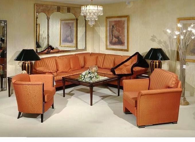 صورة غرفة نوم باللون البرتقالى جميلة جدا