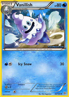 Vanillish Plasma Storm Pokemon Card