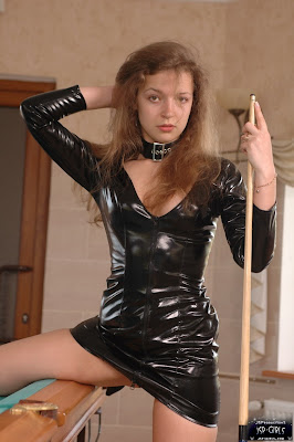 Sexy Sarah Black PVC Dress and Boots