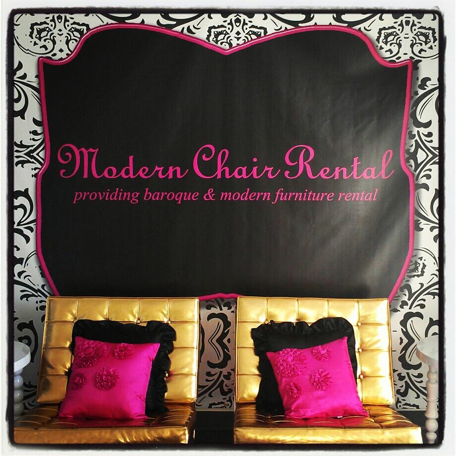 Modern chair rental providing baroque modern furniture rental and sales