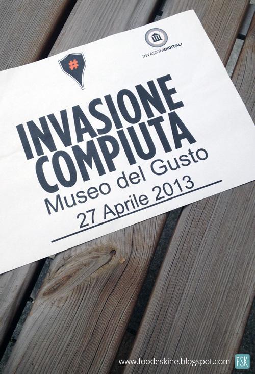 #Invasionidigitali al Museo del Gusto.