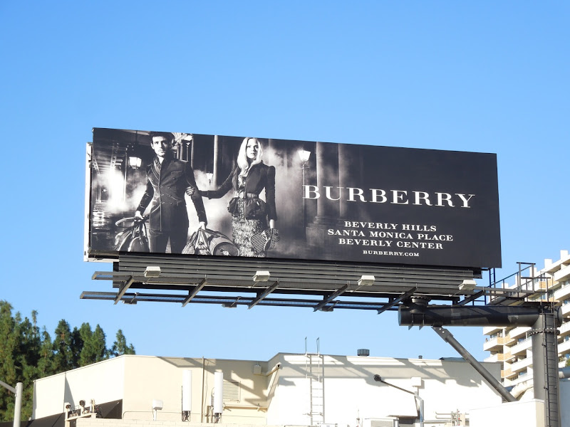 Burberry luggage billboard
