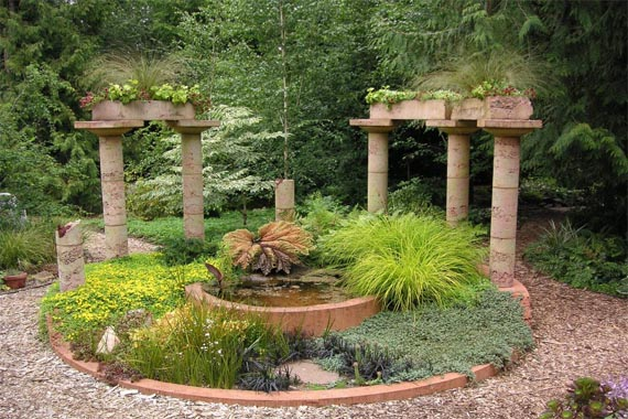 Home design and interrior for Mediterranean garden designs
