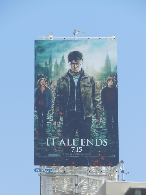 Harry Potter It All Ends movie billboard